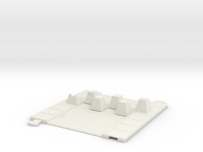cobblestone street with dragon teeth in White Natural Versatile Plastic