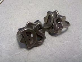 size 11 D.S. Drive Shaft ring from LOST  in Polished Bronzed Silver Steel