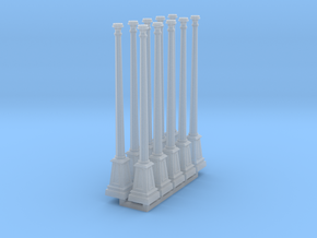 10 x HO Scale lamp posts in Smoothest Fine Detail Plastic