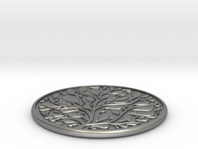 Tree Coaster in Natural Silver