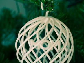 Ornament:  MOM in White Strong & Flexible