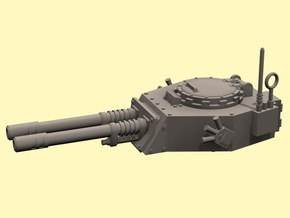 28mm APC turret with 2x auto guns in White Strong & Flexible Polished