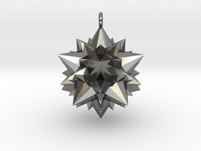 Great Rhombicosidodecahedron 3,7cm in Polished Silver