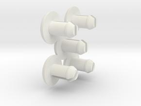 steelcase tanker desk roller retainer set in White Strong & Flexible