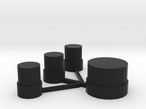 actuators dna 75 face plate in Black Natural Versatile Plastic