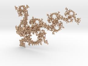 Jk Dragon in 14k Rose Gold Plated Brass