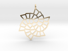 Snowflake Pendant in 14k Gold Plated Brass