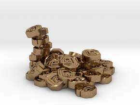 "Pile of Shanix (1"" diameter) in Natural Brass"