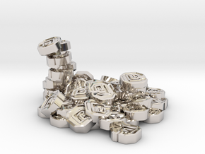 "Pile of Shanix (1"" diameter) in Rhodium Plated Brass"