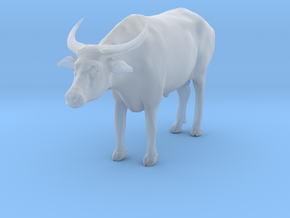 Domestic Asian Water Buffalo 1:24 Standing Male in Smooth Fine Detail Plastic