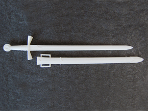 Crusader Sword Deluxe - 1:4 in White Natural Versatile Plastic