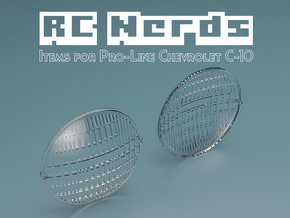RCN033 Front Light Lens for Chevy 66 Pro-Line  in Frosted Ultra Detail