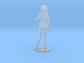 Cosplay Girl 33.16mm Tall  (Titan Master Scale) in Smoothest Fine Detail Plastic