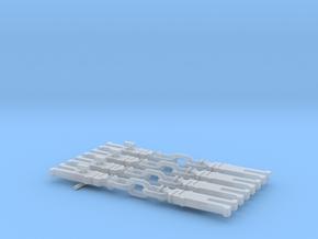 NEM OO Type 31 Couplings - Strait 3 Link x4 in Smooth Fine Detail Plastic