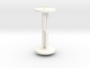 Fidget Cube Caps - Slide Mechanism in White Processed Versatile Plastic