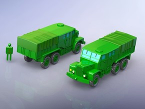 Leyland Martian Artillery Tractor 1/220 in Smooth Fine Detail Plastic