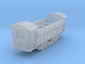 Swedish Coal Car four wheel European Z scale in Smooth Fine Detail Plastic