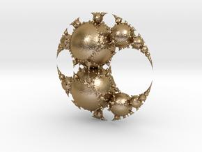 Jk disc in Polished Gold Steel