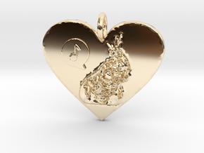 Sunshine Pendant in 14k Gold Plated Brass
