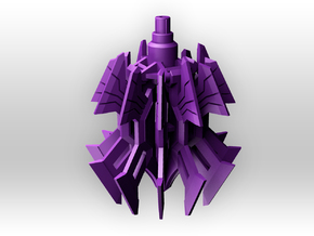 CW 'Gravedigger' Wrecking Ball / Grappling Claw in Purple Processed Versatile Plastic