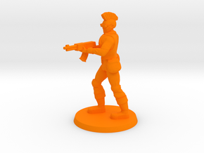 Mercenary Andrew in Orange Processed Versatile Plastic
