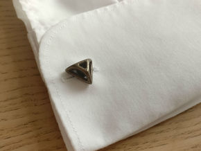 Triangular Cufflink in Polished Bronze Steel