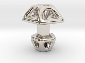 Pentagonal Cufflink  in Platinum