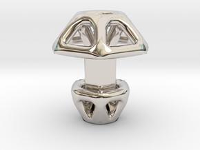 Hexagonal Cufflink in Rhodium Plated Brass