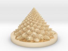 Romanesco fractal Bloom zoetrope (backwards) in 14K Yellow Gold: Medium