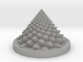 Romanesco fractal Bloom zoetrope (backwards) in Aluminum: Medium