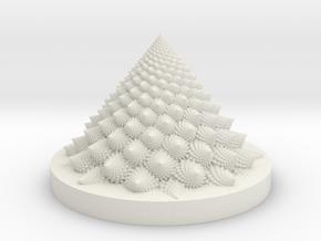 Romanesco fractal Bloom zoetrope (more resolution) in White Natural Versatile Plastic: Medium