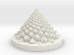 Romanesco Bloom (backwards, more resolution) in White Natural Versatile Plastic: Medium