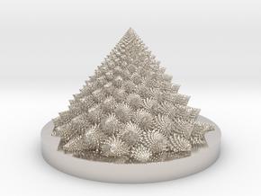 Romanesco Bloom (backwards, more resolution) in Platinum: Medium