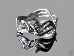 Art Nouveau Ring #1 in Polished Silver: 6.5 / 52.75