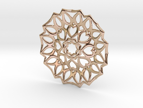 Flca Pendant in 14k Rose Gold Plated Brass