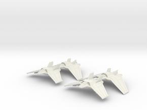 Tauri Heavy Squadron: 1/270 scale in White Natural Versatile Plastic