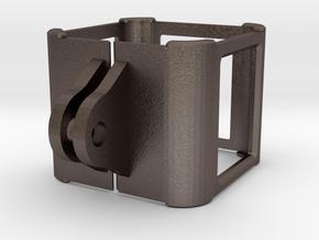 GoPro frame in Polished Bronzed Silver Steel