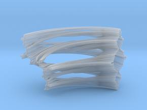 Quarter Unit Circle Julia Sets (90°) in Smooth Fine Detail Plastic