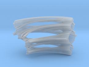 Quarter Unit Circle Julia Sets (90°, thick) in Smooth Fine Detail Plastic