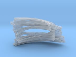 Quarter Unit Circle Julia Sets (45°, thick) in Smooth Fine Detail Plastic