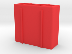 Remote Caddy in Red Processed Versatile Plastic