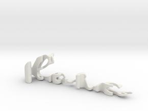 3dWordFlip: loic/leprince in White Natural Versatile Plastic