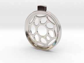 Surround ::: Circle Pendant ::: v.01 in Rhodium Plated Brass