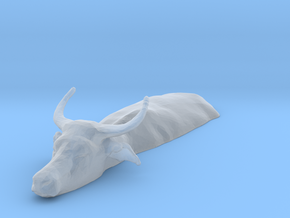 Domestic Asian Water Buffalo 1:35 Lying in Water 2 in Smooth Fine Detail Plastic