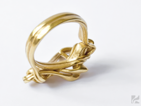 Weaving Ribbons Ring in 14k Gold Plated: 6.5 / 52.75