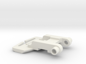 110310800 reinforced dryer handle component part  in White Natural Versatile Plastic