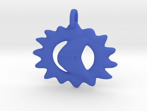 Commemorative 2017 Eclipse Pendant in Blue Processed Versatile Plastic