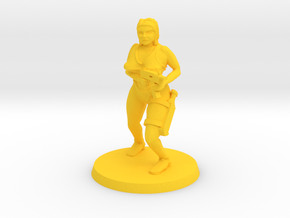 Hazel Zombie hunter in Yellow Processed Versatile Plastic