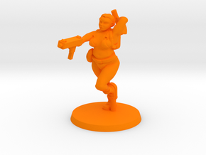 Katie - Zombie Slaying Surfer in Orange Processed Versatile Plastic