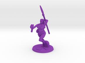 Barbarian Katie Pose 2 in Purple Processed Versatile Plastic